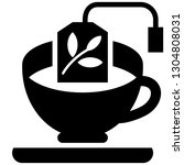 the icon shows a cup with tea... | Shutterstock .eps vector #1304808031