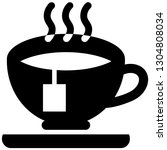 the icon shows a cup with tea... | Shutterstock .eps vector #1304808034