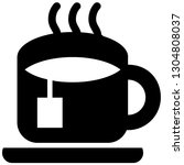 the icon shows a cup with tea... | Shutterstock .eps vector #1304808037