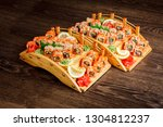 red sushi sashimi set on a...   Shutterstock . vector #1304812237