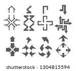 arrow sign icon set   Shutterstock .eps vector #1304815594