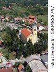 parish church of holy cross in...   Shutterstock . vector #1304833747