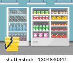 grocery store showcase. shop... | Shutterstock .eps vector #1304840341