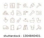 home repair icons. construction ... | Shutterstock .eps vector #1304840401