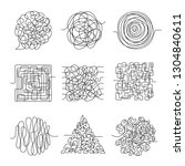 chaos lines. scribble messy...   Shutterstock .eps vector #1304840611