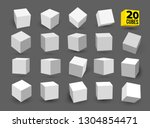 set of white 3d cubes pack... | Shutterstock .eps vector #1304854471