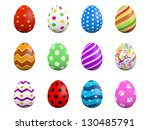 Set Of Twelve Easter Eggs...