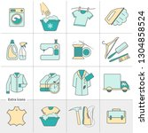 dry cleaning laundry and cloth... | Shutterstock .eps vector #1304858524