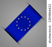eu flag. ribbon stylized flag... | Shutterstock .eps vector #1304866621