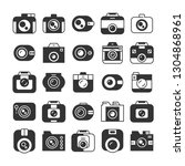 camera and video recorder icons ... | Shutterstock .eps vector #1304868961