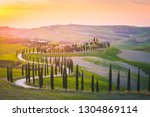san quirico d'orcia  tuscany ... | Shutterstock . vector #1304869114