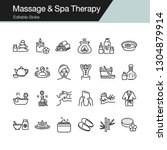 massage and spa therapy icons.... | Shutterstock .eps vector #1304879914
