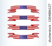 american flag ribbon stars...   Shutterstock .eps vector #1304886127
