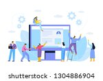 business concept. partnership.... | Shutterstock .eps vector #1304886904