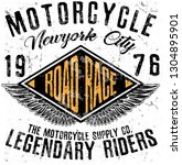 motorcycle typography  t shirt...   Shutterstock . vector #1304895901