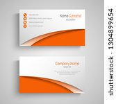 business card with arches in... | Shutterstock .eps vector #1304899654