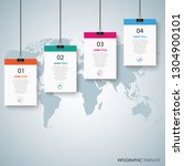 info graphic with hanging... | Shutterstock .eps vector #1304900101