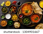 indian food curry butter... | Shutterstock . vector #1304901667