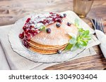 delicious and healthy breakfast ... | Shutterstock . vector #1304903404