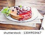 delicious and healthy breakfast ... | Shutterstock . vector #1304903467