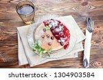 delicious and healthy breakfast ... | Shutterstock . vector #1304903584