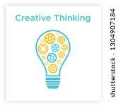 cogwheel lightbulb creative... | Shutterstock .eps vector #1304907184