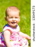 Little baby girl portrait - stock photo