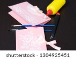 making greeting cards from... | Shutterstock . vector #1304925451
