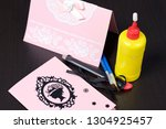 making greeting cards from... | Shutterstock . vector #1304925457