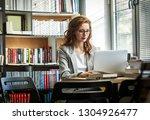female university professor... | Shutterstock . vector #1304926477