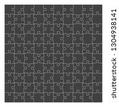 puzzle template 10x10 pieces ... | Shutterstock .eps vector #1304938141