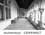 building interior of arched... | Shutterstock . vector #1304946817