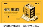 hotel service isometric... | Shutterstock .eps vector #1304950567