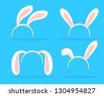 lovely bunny ears theme for...   Shutterstock .eps vector #1304954827