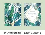 exotic tropical palm tree.... | Shutterstock .eps vector #1304960041