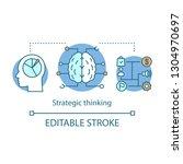 strategic thinking concept icon.... | Shutterstock .eps vector #1304970697
