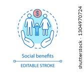 social benefits concept icon....   Shutterstock .eps vector #1304970724