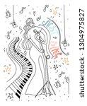 vector illustration. doodle... | Shutterstock .eps vector #1304975827