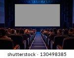 empty cinema screen with... | Shutterstock . vector #130498385