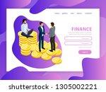effective website template...   Shutterstock .eps vector #1305002221