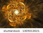 Abstract Exotic Golden Flower....