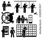 bank business finance worker... | Shutterstock .eps vector #130501547