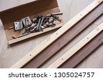 furniture fittings  screws and... | Shutterstock . vector #1305024757