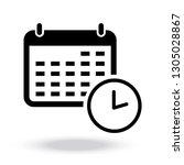 calendar vector icon | Shutterstock .eps vector #1305028867