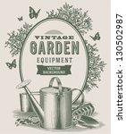 vintage garden background | Shutterstock .eps vector #130502987