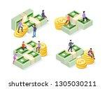 creative business team work...   Shutterstock .eps vector #1305030211