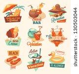 retro beach emblems | Shutterstock .eps vector #130503044