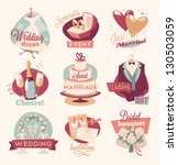 retro wedding emblems | Shutterstock .eps vector #130503059