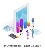 business concept for banner and ...   Shutterstock .eps vector #1305031894
