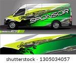 van graphic designs. abstract... | Shutterstock .eps vector #1305034057
